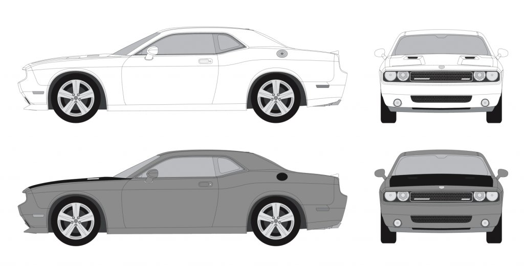 Car Outline Mockup - Wrap Centre - Branding Centres