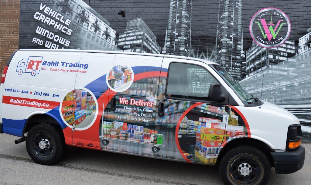 Full Commercial Vinyl Wrap – GMC Savana – Rahil Trading - Vinyl Wrap Toronto - Van