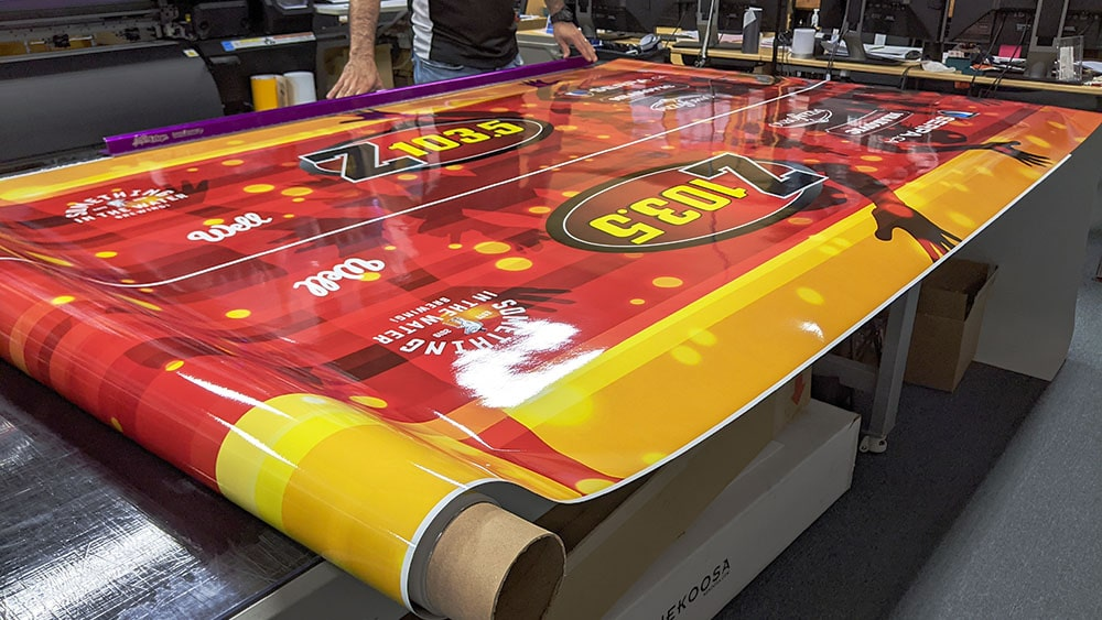 Printing of the vinyl wrap