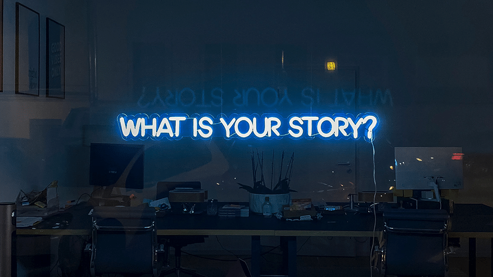 Brand persona your story neon sign