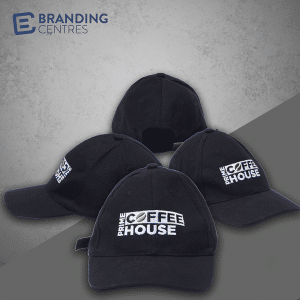 4 Reasons to use Branded Apparel in Your Marketing Strategy - Branding Centres - Coffee Prime House- Promotional Products - Embroidered Hats - Toronto