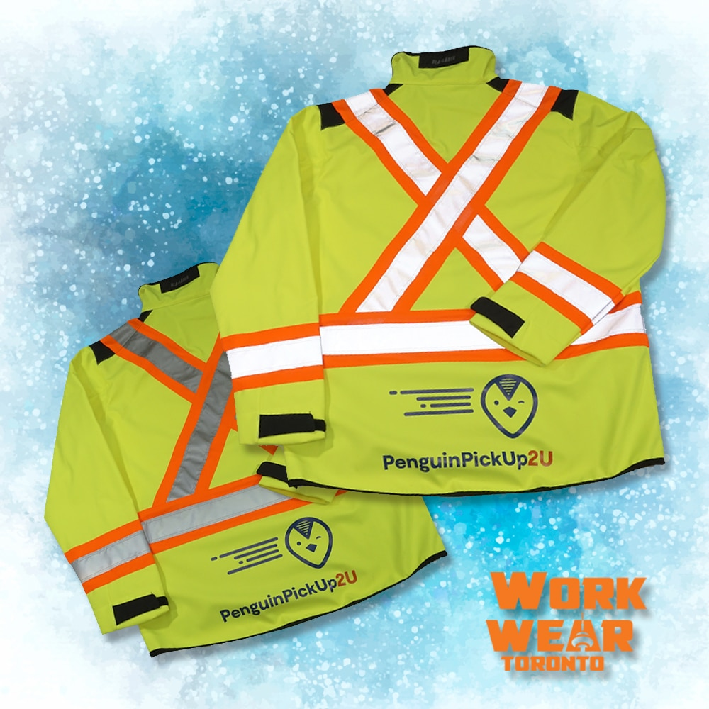 CUSTOM SAFETY VESTS FOR THE EMPLOYEES – Penguin Pick up - Branding Centres - Reflective Jackets