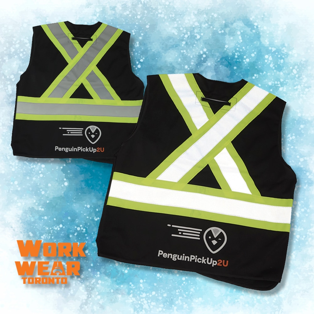 CUSTOM SAFETY VESTS FOR THE EMPLOYEES – Penguin Pick up - Branding Centres - Reflective Vests