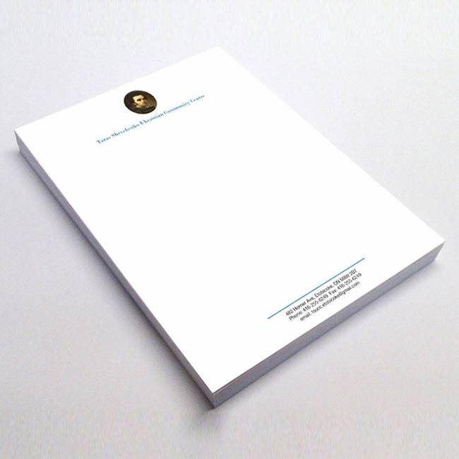 Company Stationery Custom Letterheads in GTA - Custom Print Products - Branding Centres
