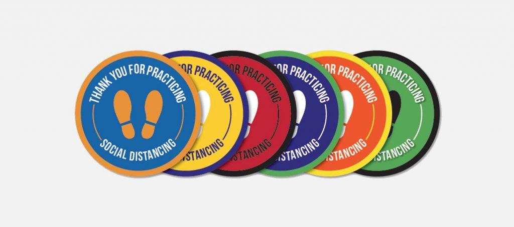 Custom Designed Floor Graphics - Floor Stickers - Covid-19 Social Distancing Floor Decals in Toronto - Branding Centres