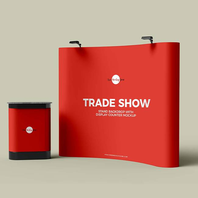 Custom Designed and Printed Backdrops for Trade Shows and Virtual Meetings - Branding Centres