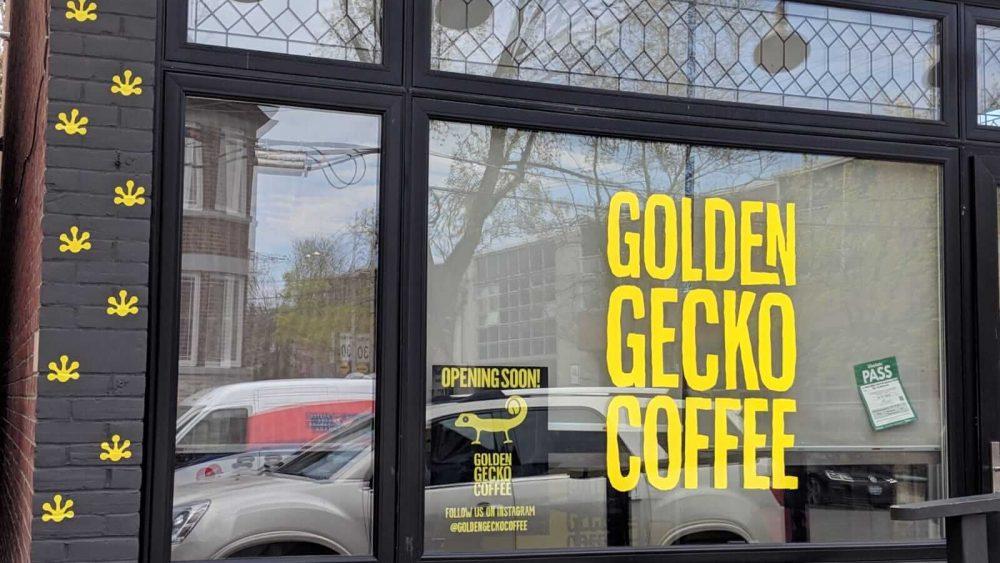 Brick-Wrap-Toronto-Signage-Wall-Wrap-Golden-Gecko-Coffee-Shop- Branding Centres