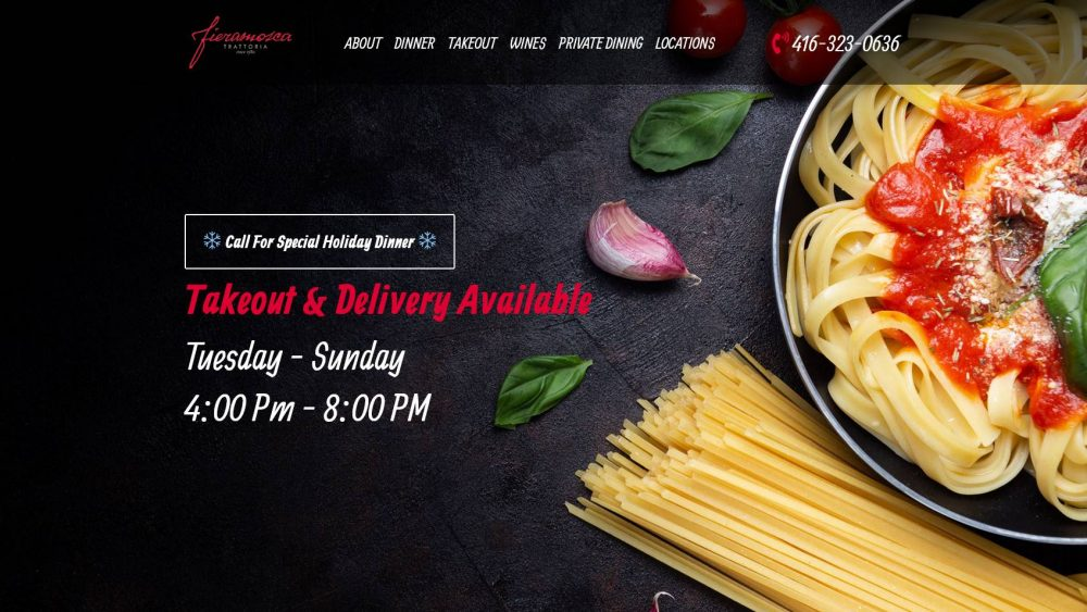 Fieramosca Toronto - WordPress Custom Themed Website - Website Centre