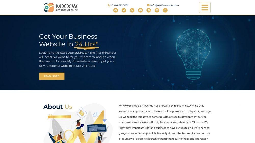 My10xWebsite - WordPress Custom Themed Website - Branding Centres