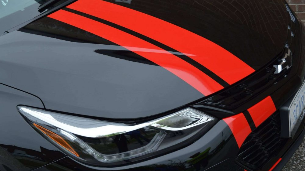 Red Racing Stripes - Vinyl Wrap - Avery and 3M Racing Decals - Branding Centres