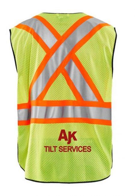 Custom decorated high vis safety vests - Branding Centres